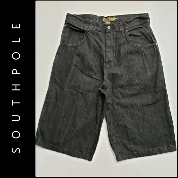 South Pole Other - Southpole Men Denim Longer Length Short Black 36